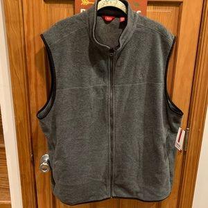 Men's Grey Izod Fleece Vest